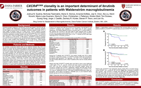 CXCR4<sup>S338X</sup> clonality is an important determinant of ibrutinib outcomes in patients with Waldenström macroglobulinemia