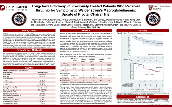 Long-Term Follow-Up of Previously Treated Patients Who Received Ibrutinib for Symptomatic WM: Update of Pivotal Clinical Trial